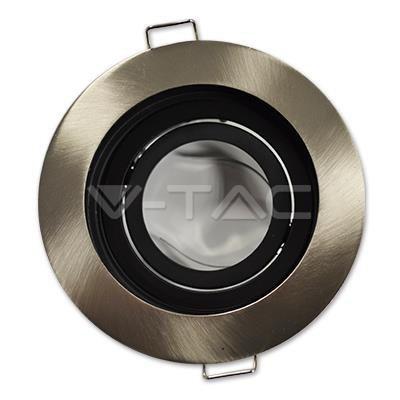 Oprawa Oczko V-TAC Aluminiowa GU10 Okrągła Satyna/Czarna VT-781
