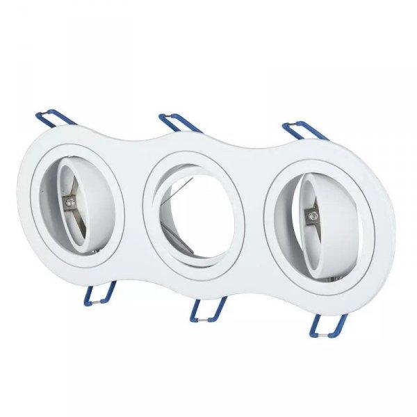Oprawa Oczko V-TAC Aluminiowa Odlew 3xGU10 Okrągła Biała VT-784