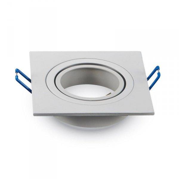 Oprawa Oczko V-TAC Aluminiowa Odlew 1xGU10 Kwadrat Biały VT-782