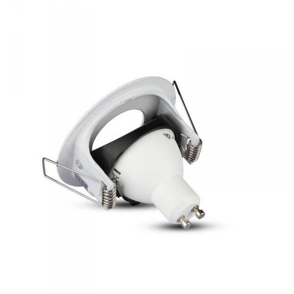 Oprawa Oczko V-TAC Aluminiowa Odlew GU10 mat Okrągła Biała 3611 VT-785