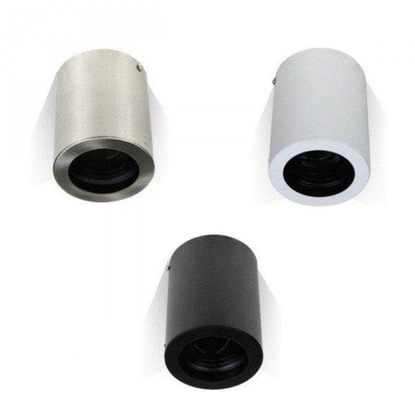 Oprawa V-TAC Aluminiowa GU10 Okrągła Natynkowa Tuba Czarna 142x100 VT-796