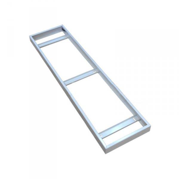 Ramka Natynkowa do Paneli LED składana Klik Klik 1200x300 Biała V-TAC