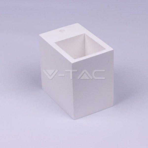Kinkiet Ścienny Kwadrat GIPS G9 Biały V-TAC VT-858 3 Lata Gwarancji