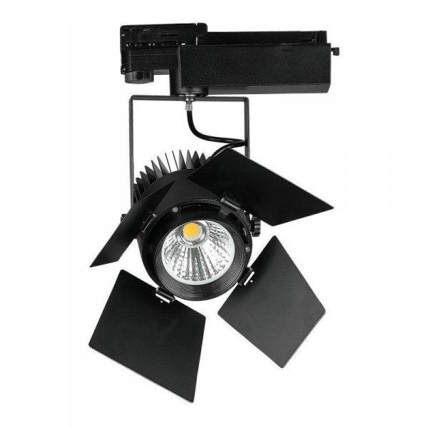 Oprawa 33W LED V-TAC Track Light SAMSUNG CHIP CRI90+ Czarna VT-433 3000K 2800lm 5 Lat Gwarancji