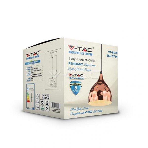 Oprawa Wisząca V-TAC Różowe Złoto fi170 VT-8170 5 Lat Gwarancji