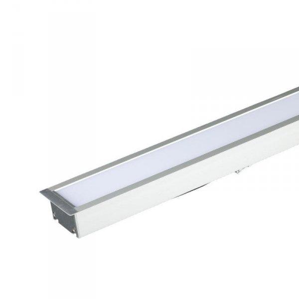 Oprawa V-TAC LED Linear SAMSUNG CHIP 40W Wpuszczana Srebrna 120cm VT-7-41 4000K 3200lm 5 Lat Gwarancji