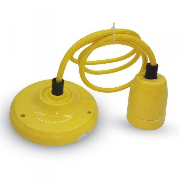 Oprawka Porcelanowa z Przewodem Żółta V-TAC VT-7998 5 Lat Gwarancji