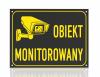 Tabliczka informacyjna obiekt monitorowany 21/14,8cm
