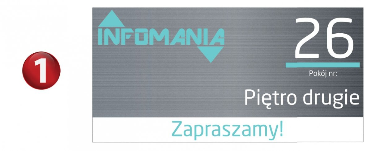 Dodatkowe tabliczka na drzwi wejściowe -tabliczki na drzwi - tablicee.pl FG17