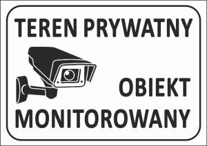 Tabliczka teren prywatny 29,7/21cm (odblask)