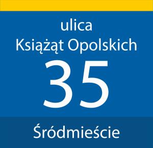 Tabliczka adresowa Opole 31 cm x 30 cm