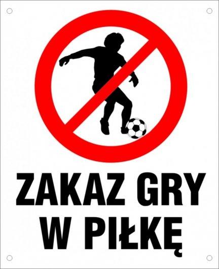 Zakaz gry w piłkę