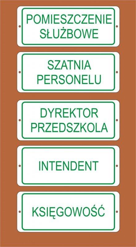 Tabliczka na drzwi 23 cm x 9 cm (odblaskowa)