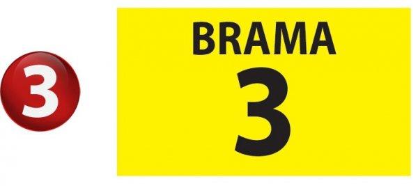 Tablica oznakowania bramy 35/20 cm (odblask)