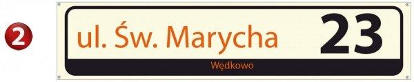 Tablica z nazwą ulicy 75/16,5cm (odblask) ver.2