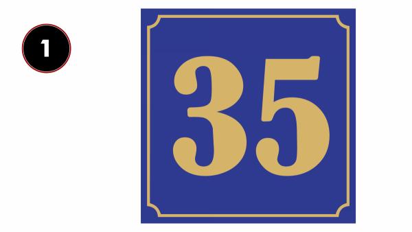 Tablica z numerem domu 20/20cm