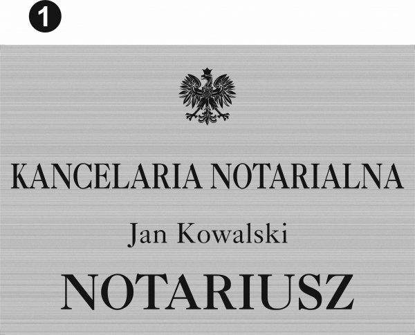 Tablica notariusz wzór 1