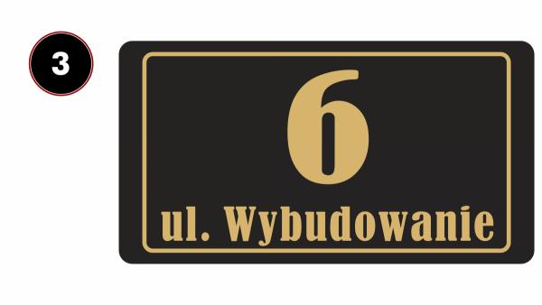 Tablica adresowa na dom 40/21,4cm
