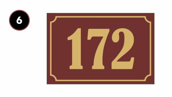 Tablice adresowe na dom