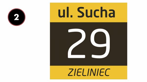 Tabliczka z numerem domu 25/25cm