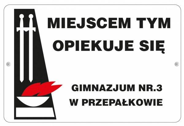 Tablica Miejsce Pamięci Narodowej  30/20cm (odblask)