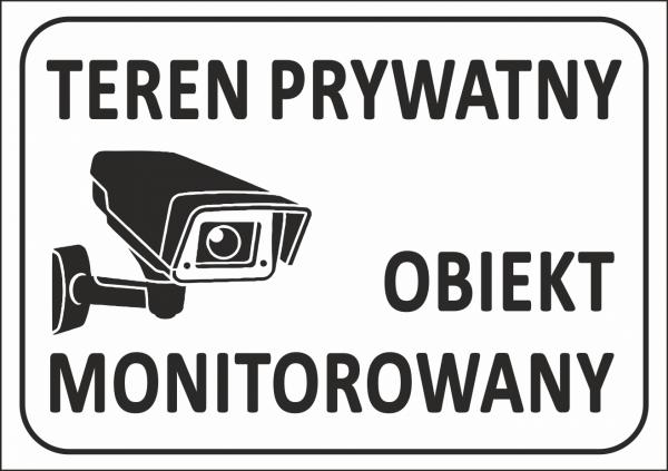 Tablica teren prywatny 29,7/21cm