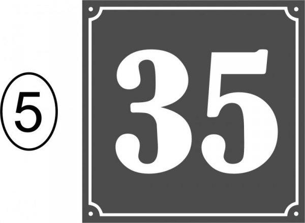 Tabliczka adresowa 20 cm x 20 cm (odblask)