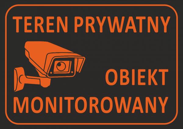 Tabica teren prywatny obiekt monitorowany 21/14,8cm