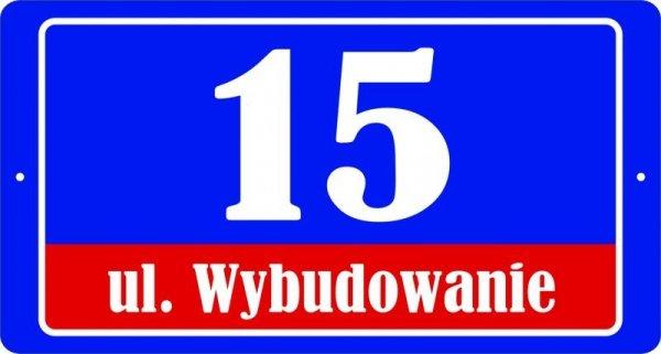 Tabliczka adresowa 40 cm x 21,4 cm