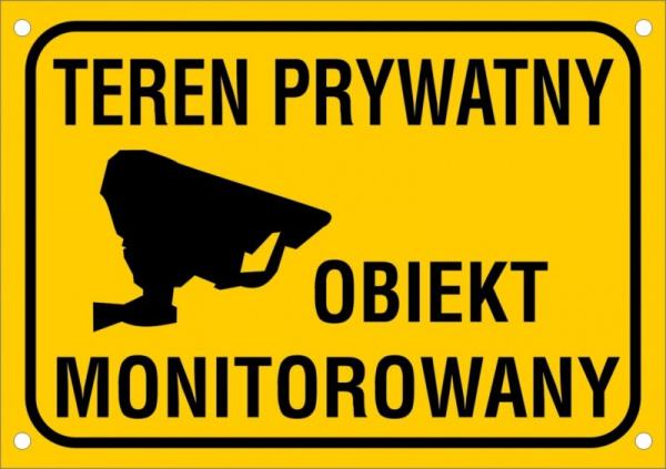 Teren prywatny Obiekt monitorowany