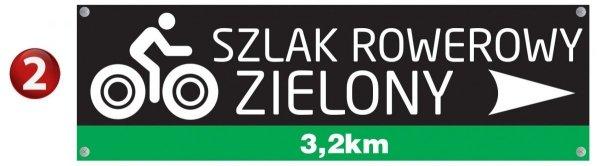 Tablica szlak rowerowy 40/12cm (odblask)