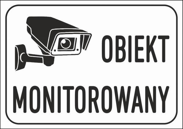 Tabliczka obiekt monitorowany 42/29,7cm