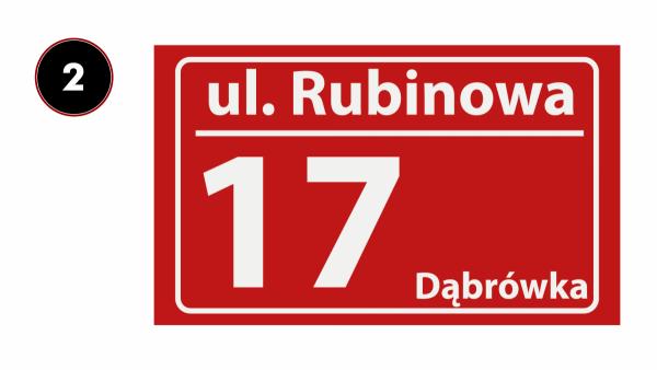 Tabliczka z nazwą miejscowości 30/18cm