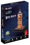 Puzzle 3D Zegar Big Ben (Światło)