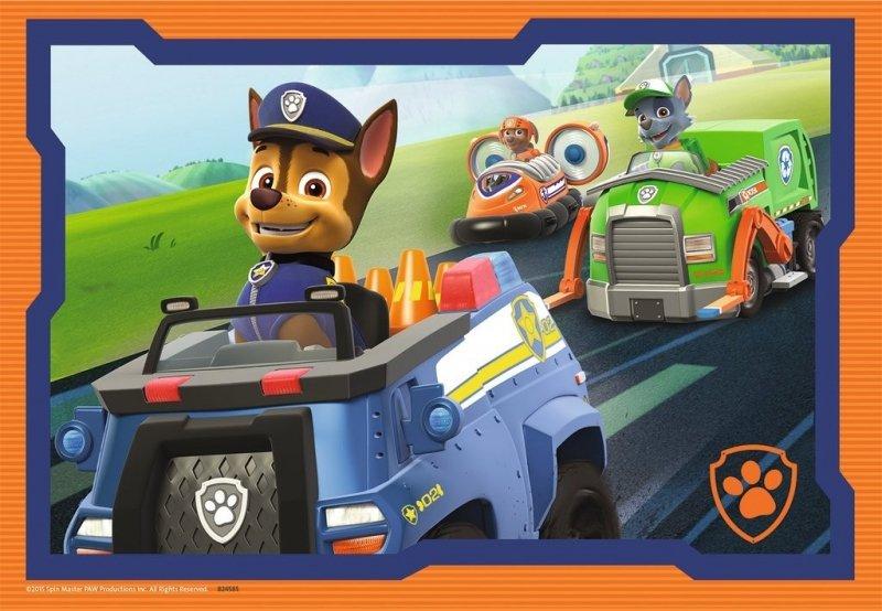 Puzzle 2x12 elementów - Psi Patrol, W akcji