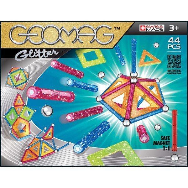 Klocki magnetyczne Glitter 44 elementów