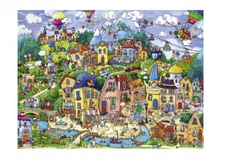 Puzzle Szczęśliwe miasto 1500 elementów