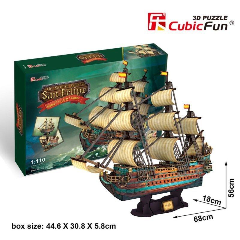 Puzzle 3D Żaglowiec The Spanish ArmadaSan Felipe