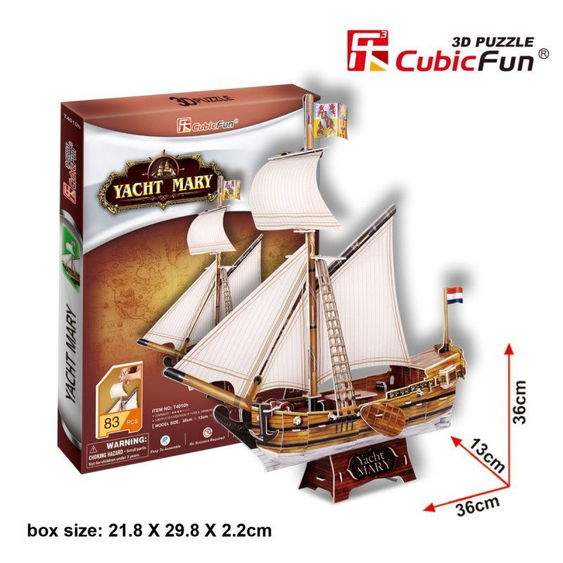 Puzzle 3D Jacht Mary