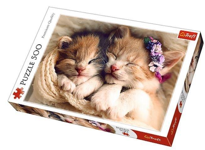 500 Elementów Śpiące kotki