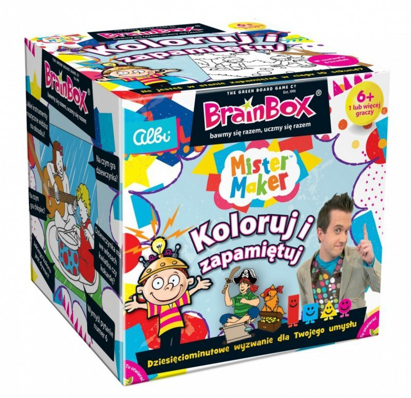 Gra BrainBox Pan Robótka Koloruj i zapamiętuj