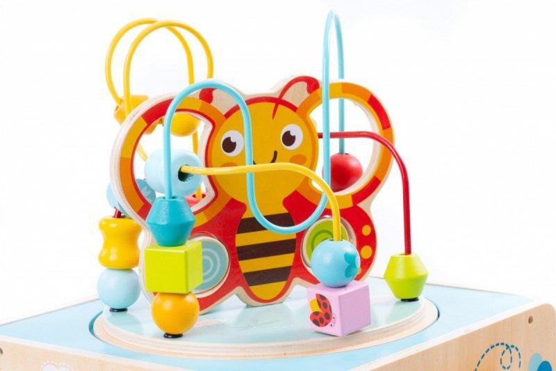 Drewniana kostka edukacyjna przeplatanka Pszczółka