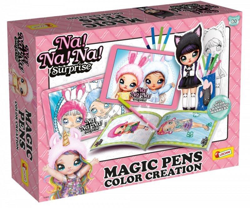 Zestaw Na Na Na Surprise Twórz i koloruj z magicznymi pisakami