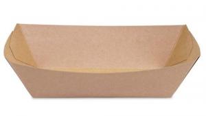Tacka papierowa głęboka z BIO-powłoką  550ml | 20,5x14cm, 100szt