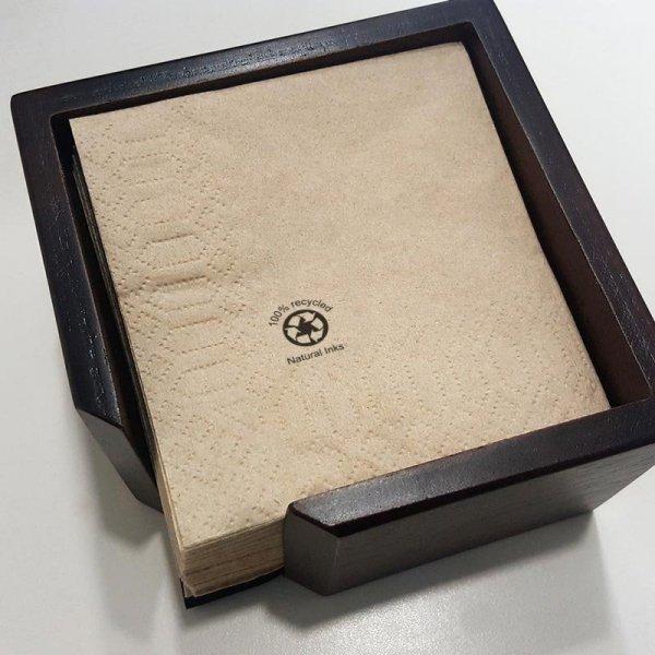Serwetka 2-warstwowa w kolorze naturalnym GoGreen 20x20cm, 100szt