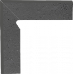 Paradyż Semir Grafit Cokół 2 El. Lewy 8,1x30