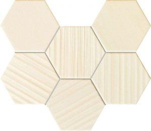 Tubądzin Horizon Hex Ivory Mozaika 28,9x22,1