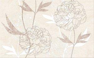 Cersanit Ferrata Beige Inserto Flower 25x40