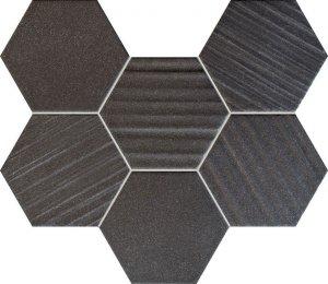 Tubądzin Horizon Hex Black Mozaika 28,9x22,1