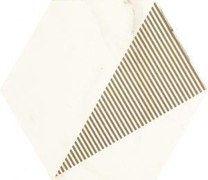 Paradyż Calacatta Hexagon Mat. C 17,1x19,8